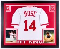 """Pete Rose Signed Reds 35x43 Custom Framed Jersey Inscribed """"4256"""" (TriStar)"""