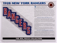 1928 Rangers Patch Card with 9x12 Scorecard at PristineAuction.com