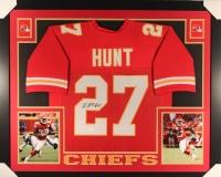 Kareem Hunt Signed Chiefs 35x43 Custom Framed Jersey (JSA COA)