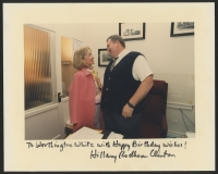 "Hillary Clinton Signed 8x10 Photo With Full-Name Signature Inscribed ""Happy Birthday Wishes!"" (JSA LOA)"