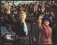 Bill Clinton & Hillary Clinton Signed 8x10 Photo (JSA LOA)