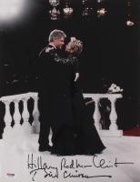 Bill Clinton & Hillary Clinton Signed 11x14 Photo with Full-Name Signature (PSA LOA)