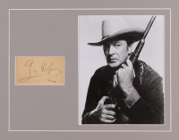 Gary Cooper Signed 11x14 Custom Matted Cut Display (JSA LOA) at PristineAuction.com