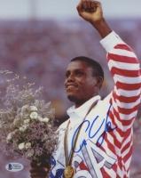 Carl Lewis Signed Team USA 8x10 Photo (Beckett COA)