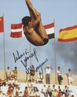 "Greg Louganis Signed 8x10 Photo Inscribed ""Believe In Yourself!"" (Beckett COA)"