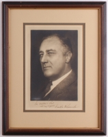 Franklin D. Roosevelt Signed 13.5x17 Custom Framed Photo with Inscription (PSA LOA)