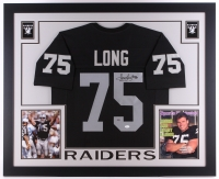 "Howie Long Signed Raiders 35"" x 43"" Custom Framed Jersey (JSA COA & Long Hologram)"