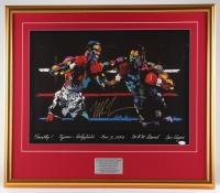 Mike Tyson Signed 26.25x30.25 Custom Framed LeRoy Neiman Print Display (JSA COA)