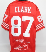 Dwight Clark Signed 49ers Jersey With Custom Stitched Play (Beckett COA)
