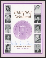 "Hillary Clinton Signed ""2005 National Women's Hall of Fame Induction Weekend"" Program With Full-Name Signature (JSA COA)"