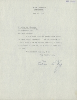 """Calvin Coolidge Signed Typed 1932 Letter Dated """"May 21, 1932"""" (PSA LOA)"""