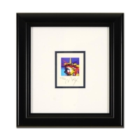 """Peter Max Signed """"Liberty Head"""" Limited Edition 10x10 Custom Framed Lithograph #464/500"""