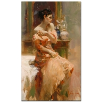 """Pino Signed """"Silk Taffeta"""" Artist Embellished Limited Edition 24x40 Giclee on Canvas #49/95"""