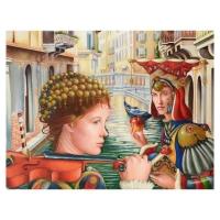"Edgar Barrios Signed ""Adomeit's Temptation"" 30x40 Original Oil Painting on Canvas"