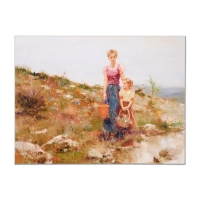 """Pino Signed """"Close to Home"""" Artist Embellished Limited Edition 36x48 Giclee on Canvas #43/95"""
