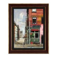 "Alex Zwarenstein Signed ""Down Grand"" 23x29 Custom Framed Original Oil Painting on Canvas"
