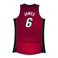 "LeBron James Signed Heat Limited Edition Jersey Inscribed ""2X NBA Champs"" (UDA COA)"