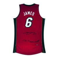 "LeBron James Signed Heat Limited Edition Jersey Inscribed ""2X Finals MVP"" (UDA COA)"