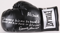 Earnie Shavers Signed Everlast Boxing Glove with Extensive Inscription Referencing Muhammad Ali (Shavers Hologram)