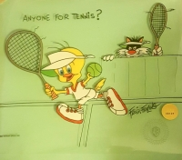 "Friz Freleng Signed ""Anyone For Tennis?"" LE 10x12 Warner Bros Sericel (Freleng COA)"