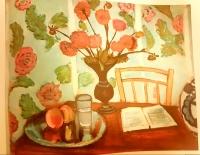 "Henri Matisse Vintage 1960 ""Still Life With Dahlias"" 22.5"" x 28.5"" Lithograph"