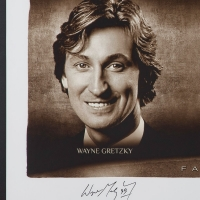 "Wayne Gretzky, Michael Jordan & Tom Brady Signed ""Faces of Sports"" 34x58 Custom Framed Limited Edition Photo (UDA COA) at PristineAuction.com"