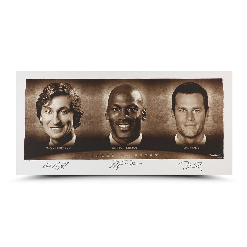 24cdd7a5aa9 Wayne Gretzky, Michael Jordan & Tom Brady Signed