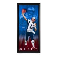 "Tom Brady Signed Patriots ""Breaking Through"" 30x70 Custom Framed Limited Edition Photo Display (UDA)"