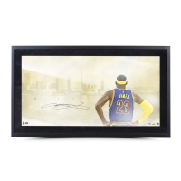 "LeBron James Signed Cavaliers ""My City"" 24x42 Custom Framed Limited Edition Photo (UDA) at PristineAuction.com"