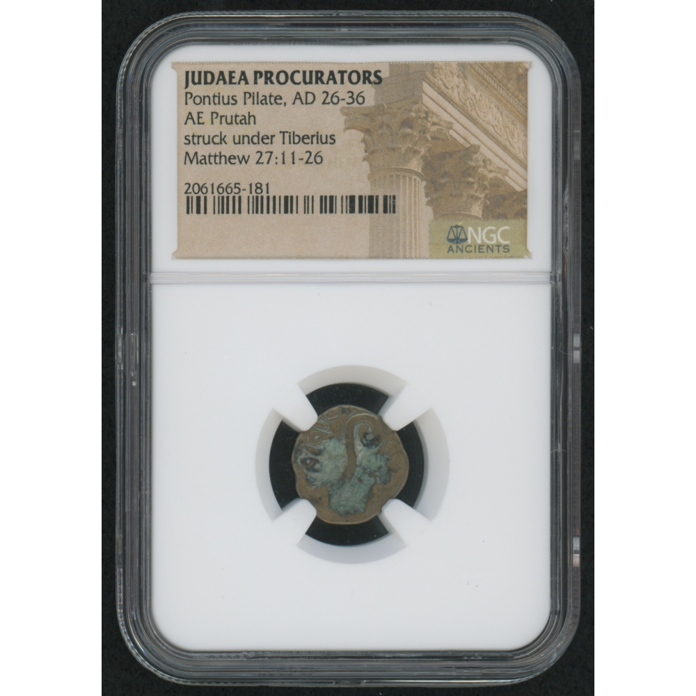 PONTIUS PILATE Ancient Biblical Roman Coin NGC