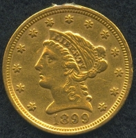 1899 $2.50 Liberty Head Quarter Eagle Gold Coin