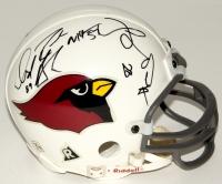 Cardinals Mini Helmet Signed by (6) With Pat Tillman, David Boston, Aeneas Williams, Michael Pittman (JSA LOA)
