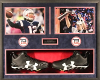 Tom Brady Signed Patriots 25x31x4 Custom Framed Cleat Shadowbox Display (TriStar & Fanatics Hologram)