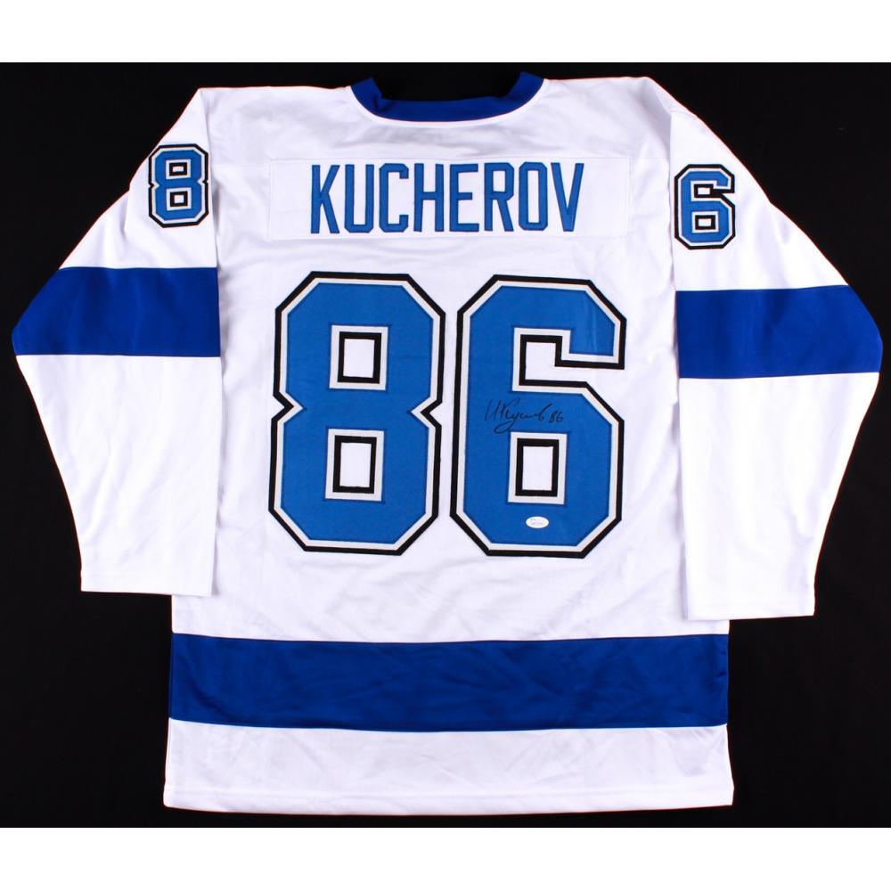 nikita kucherov signed lightning jersey jsa coa