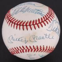 500 Home Run Club OAL Baseball Signed by (11) with Ted Williams, Mickey Mantle, Eddie Mathews, Frank Robinson, Willie Mays, Harmon Killebrew (JSA LOA)