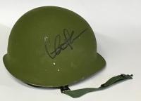 """Charlie Sheen Signed """"Platoon"""" Vietnam Era Replica Army Helmet (PSA COA) at PristineAuction.com"""