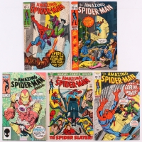 Lot of (5) Vintage The Amazing Spider-Man Marvel Comic Books