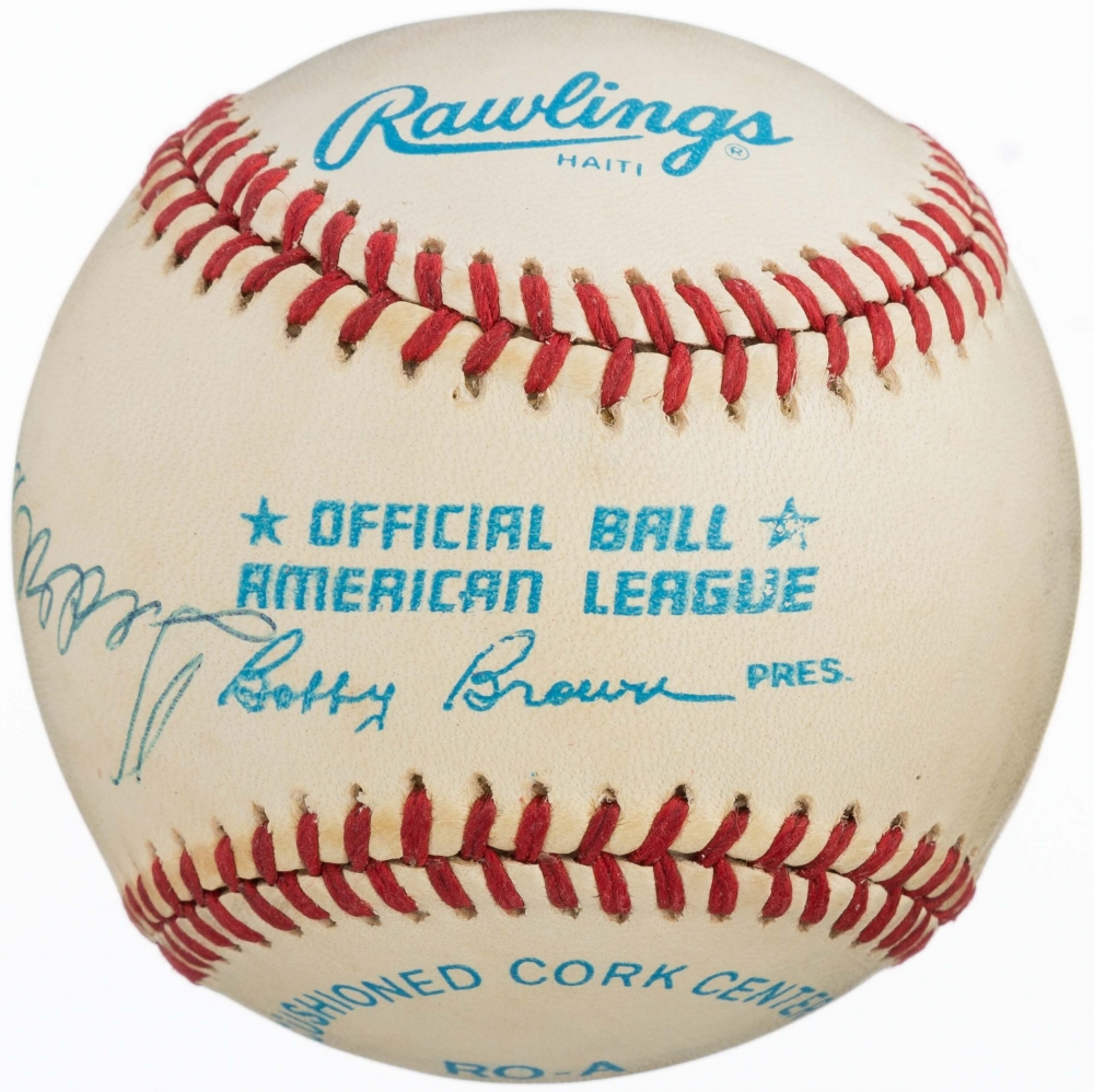 53cd7512057 Mickey Mantle   Ted Williams Dual Signed OAL Baseball (JSA ALOA) at  PristineAuction.