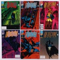 """Lot of (6) Vintage 1991 Batman """"Detective"""" DC Comic Books"""