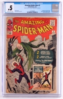 "Vintage 1963 ""The Amazing Spider-Man"" Issue #2 Marvel Comic Book (CGC .5)"