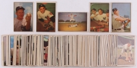 Complete Set of (160) 1953 Bowman Color Baseball Cards with #33 Pee Wee Reese, #121 Yogi Berra, #153 Whitey Ford, #59 Mickey Mantle, #44 Yogi Berra / Hank Bauer / Mickey Mantle
