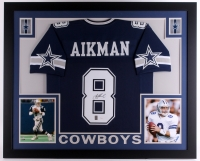Troy Aikman Signed Cowboys 35x43 Custom Framed Jersey (JSA COA & Aikman Hologram) at PristineAuction.com