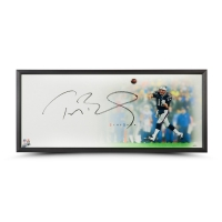 "Tom Brady Signed New England Patriots ""Epic"" 32x40 Custom Framed Photo (Steiner COA & TriStar Hologram)"