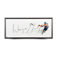 "Wayne Gretzky Signed Oilers ""The Show"" 20x46 Custom Framed Photo (UDA COA)"
