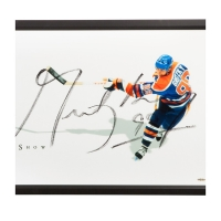 "Wayne Gretzky Signed Oilers ""The Show"" 20x46 Custom Framed Photo (UDA COA) at PristineAuction.com"