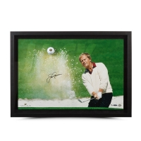 "Jack Nicklaus Signed ""Sand Trap"" 18x28 Custom Framed Limited Edition Photo Display (UDA COA) at PristineAuction.com"