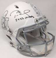 "Tom Brady Signed Limited Edition Super Bowl 51 Full-Size Custom Matte White ICE Speed Helmet Inscribed ""5x SB Champs"" (Tristar & Steiner COA)"