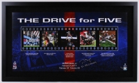 """Tom Brady Signed Patriots """"The Drive For Five"""" 24x41 Limited Edition Custom Framed Collage Inscribed """"5x SB Champs"""" (Steiner COA & TriStar)"""