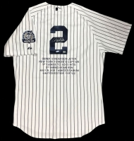 "Derek Jeter Signed Yankees ""3,000th Hit"" LE Authentic Majestic Jersey (Steiner COA & MLB Hologram)"