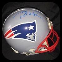 Tom Brady Signed Patriots Full-Size Authentic On-Field Helmet (Steiner COA & Tristar COA)